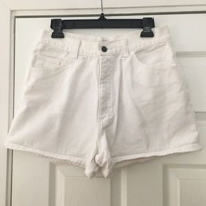 Vintage High Waisted White Denim Shorts